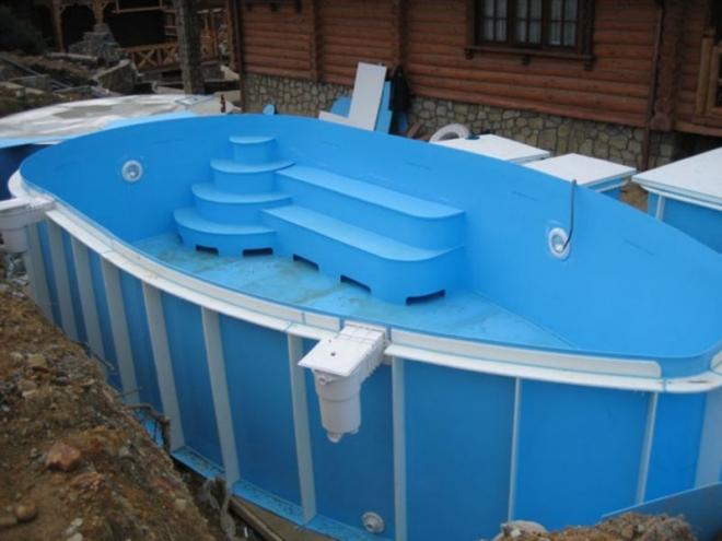Как выбрать и установить бассейн из полипропилена