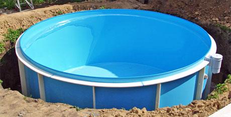 Бассейн для лета полипропиленовый или надувной